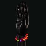 Purple Flashing Spike Bracelet