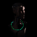 6LED Chaser Necklace Green 5mode