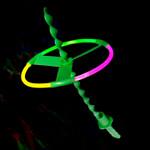 Glow Flying Saucer-4 asstd