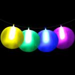 "10"" Assorted glow beach balls (6 Pack)"
