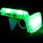 Green LED Music Sensor Ring (2 Pack)