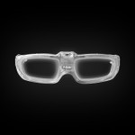 White Sound Activated LED Party Glasses
