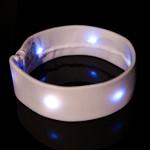 LED Fabric Headband - White