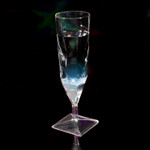 Liquid Activated Champagne Cups- White 4 Pack