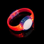 Red LED Sound Activated Circle Bracelet