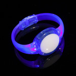 Blue  LED Sound Activated Circle Bracelet