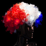 RWB Light Up Patriotic Wig