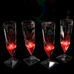 Liquid Activated Champagne Cups- Red 4 Pack