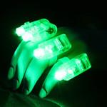 Green LED Finger Lights (4 Pack)