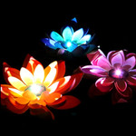 Liquid Activated Waterproof Lotus Flower Tealight - 4 pack