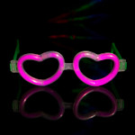 Glow Heart Shaped Glasses Asstd 12 pk