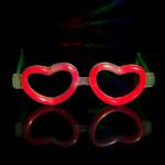 Glow Heart Shaped Glasses Asstd 12 pk
