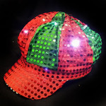 Newsboy Hat RedGreen w/LED Lights