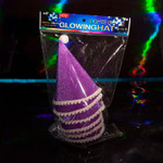 Flashing Party Hat Purple 6 Pack
