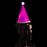 Flashing Party Hat Pink 6 Pack