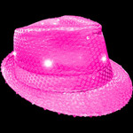 Pink Light Up Fedora (2 Pack)