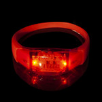 Red LED Music Activated Bracelet