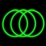 "22"" Premium Glow Necklaces Green (50 per Pack)"