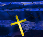Yellow Glow Cross Necklaces (50 Pack)