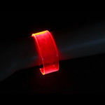 Red LED Sound Activated Magnetic Bracelet