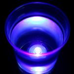 Waterproof Flower Tea Lights Purple - 12 Pack
