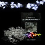 Diamond Shaped Cascade Lights Warm White - 12 Strands, 2 Meters