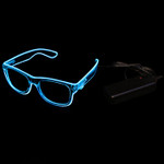 Blue EL Wire Light Up Glasses