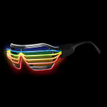 Rainbow EL Wire Light Up Glasses