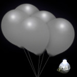 LED Balloons Silver - 5 Pack
