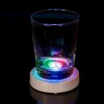 White Case Round LED Coaster RGB Multi Mode Light
