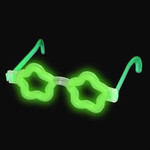 Glow Star Shaped Glasses Green 12 pk