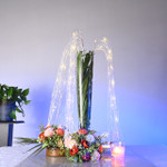 LED Sequin floral centerpiece decor - White
