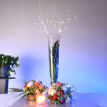 LED Pearl and Bead Floral Centerpiece