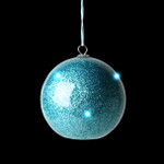 LED Glitter Blue Ornament