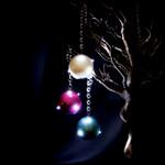LED Glitter Pink Ornament
