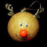 LED Gold Reindeer Ornament