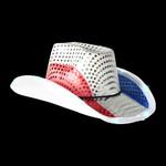 RWB Light Up Cowboy Hat