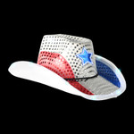 RWB Light Up Cowboy Hat