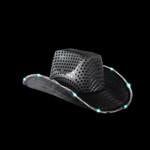Black Light Up Cowboy Hat
