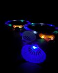 Blue LED Light up Badminton Set