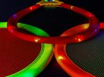 Red LED Light up Badminton Set