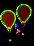 Green LED Light up Badminton Set