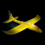 Yellow LED Light Up Glider Plane - 2 Pack