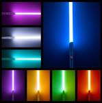 Silver LED Jedi Lightsaber with Sound