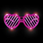 Pink LED Heart Shutter Glasses