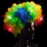 Rainbow LED Flashing Wig
