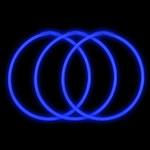 "22"" Blue Premium Glow Necklaces (50 Pack)"