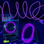 EL Wire String Light Purple 6-foot (3-Mode)