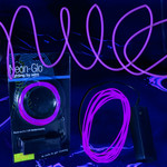 EL Wire String Light Purple 6-foot (3-Mode)