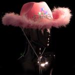 Pink Premium LED Cowboy Hat